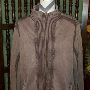 Brown denim jacket, size large