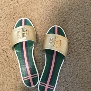 Tory Burch Logo Jelly Slides