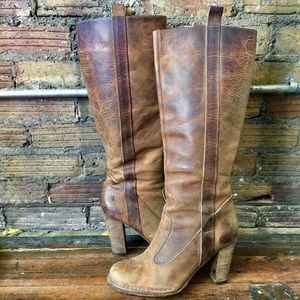 FRYE Villager Pull On 77570 Leather Boots