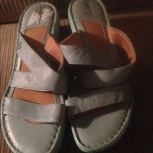 BORN light blue  leather sandals size 9