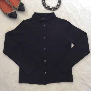 JCrew charcoal gray wool blend cardigan