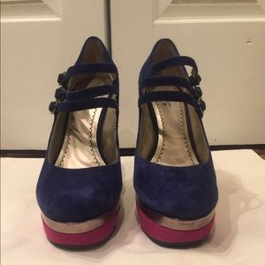 Blue and Pink Heels