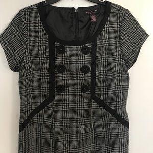 Checkered gray and black dress