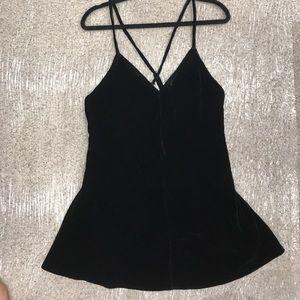 For Love & Lemons Black Velvet Dress Size Large