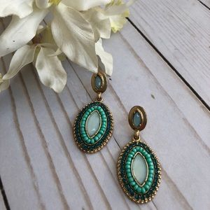 Stunning Turquoise Beaded Earrings