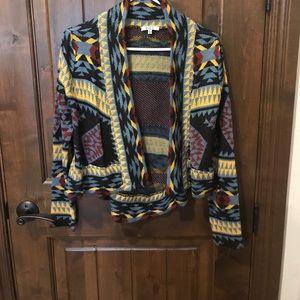 BB Dakota tribal print cardigan. Small.