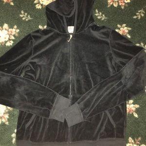 Juicy Couture XL girls Black Zip Up Sweatshirt