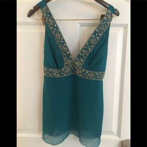 Beautiful silk turquoise top