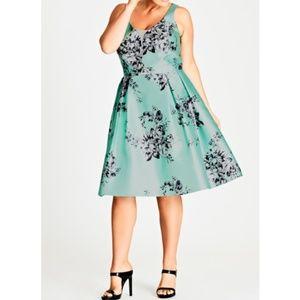 NWT City Chic Minty May Fit & Flare Dress 22W-24W