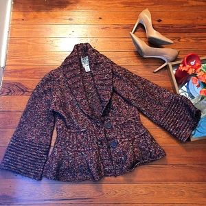 Anthropologie curio L belled sweater