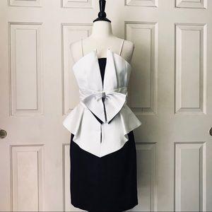 Susan Roselli for Vijack Black/White 80s Dress SZ4