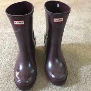 Hunter boots with wedge heel! Very comfy!