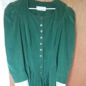 """Little House on the Prairie"" full green gown"