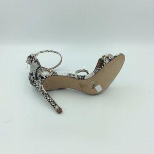 04ef438c3de Steve Madden Shoes - Steve Madden Meg Snake Skin Pearl Studded Heel