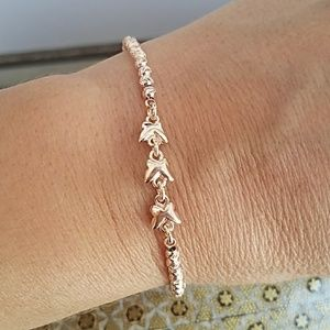 Jewelry - 14k Rose Gold Plated Adjustable Bracelet