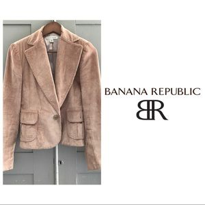 Banana Republic Blush Corduroy Blazer
