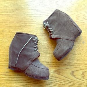 Aldo Suede Wedge Booties