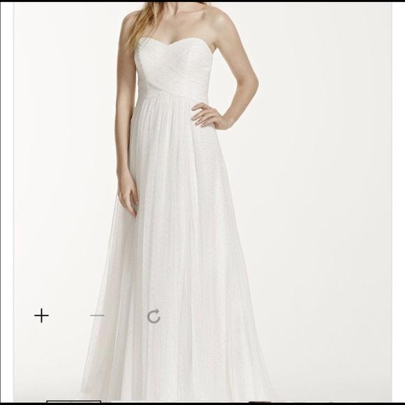 David\'s Bridal Dresses | Davids Bridal Empire Waist Wedding Gown ...