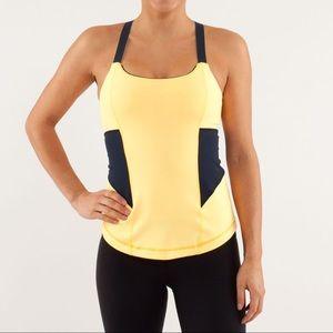 Lululemon Work It Out Tank Top Yellow Yoga