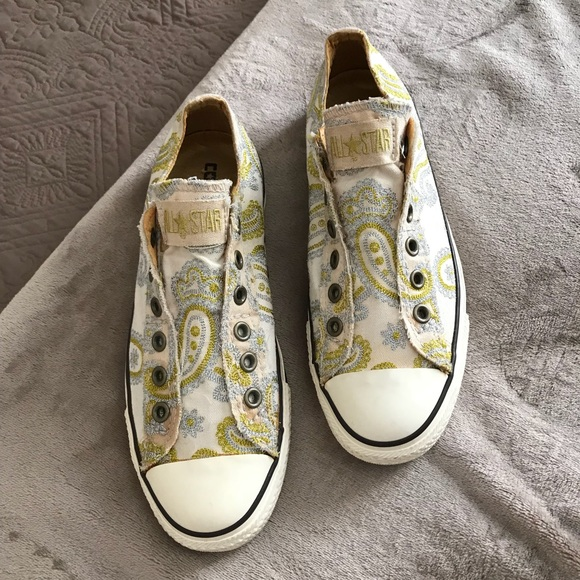86a7a22954c3 Converse Shoes - Converse Paisley Print All Star Sneakers