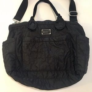 Black Marc Jacobs Quilted Eliz-A-Baby Diaper Bag