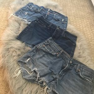 Designer Jeans Cut into Shorts