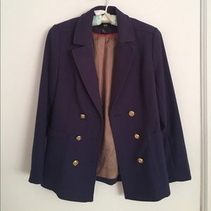 H&M Navy Blue Blazer with Gold Buttons