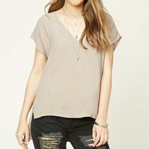NWT F21 cocoa blouse