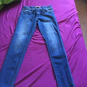 Girls Levis super skinny jeans pants stretch