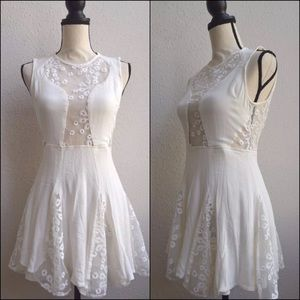 Nasty Gal white embroidered lace chiffondress