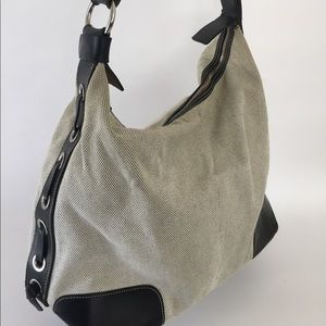 Dooney & Bourke Black and Canvas large bag