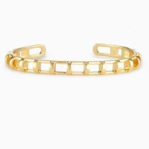 Stella & Dot Gold Cage Cuff Bracelet
