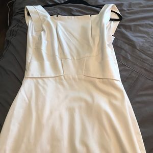 Black halo white midi dress