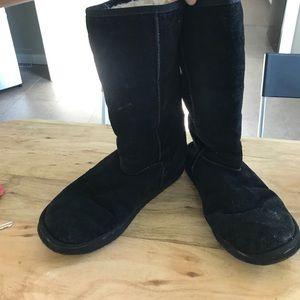 Black mid calf EMU boots