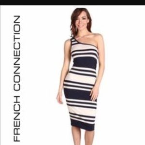 French Connection/ one shoulder dress