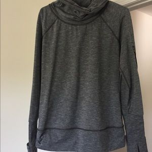 Victoria secret sport gear gray cow neck hoodie