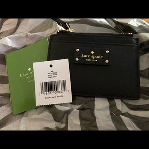 Kate spade tip zip card holder