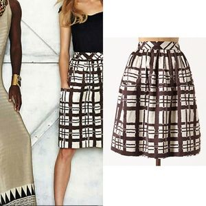 NWT $178 Anthropologie Paned & Pocketed Skirt Sz 4