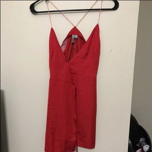 ASOS Red Silk Tie Dress
