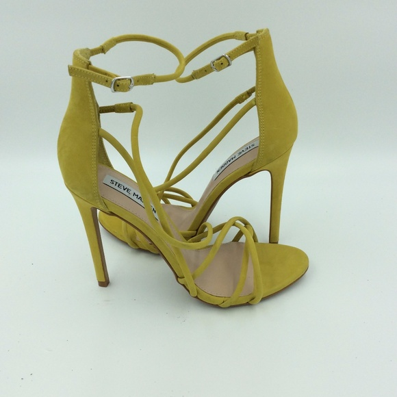 71996fd9054 Steve Madden Santi Strappy Yellow Heels Boutique