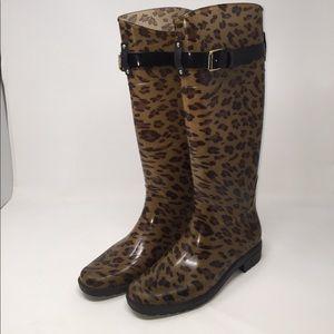 Ralph Lauren Cheetah Rain Boots