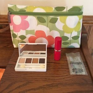 Clinique Bag, Shadow and lipstick