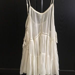Sheer Lace Up Dress Urban Outfitters Beach