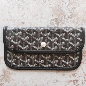 GOYARD Black monogram pouch wallet