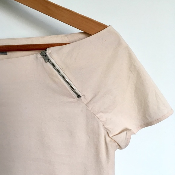 COS Tops - COS Off Shoulder Light Pink Minimalist Top