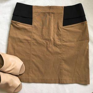 ASOS Mini Pencil Skirt Black & Tan
