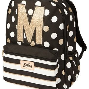 Justice Initial M Backpack and Lunch box