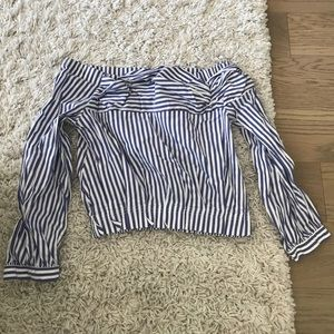 Zara crop top blouse