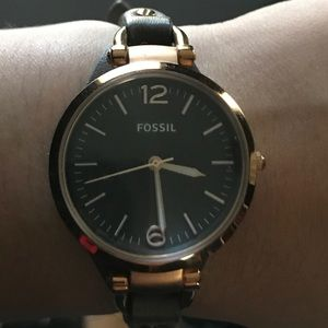 Fossil - Georgia Smoke Leather Watch
