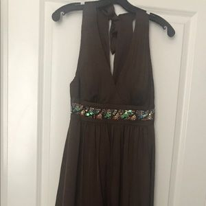 BCBG Long Brown Dress perfect for any Formal Event